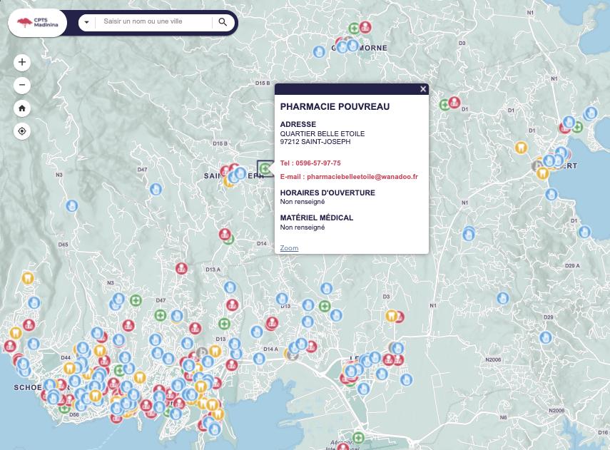 Fokusvision carte interactive web pro santé CPTS